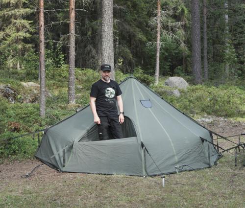 Savotta Hawu 4 teltan komponentit