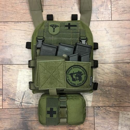 Särmä TST PC18 Plate Carrier. PC18 + Spiritus Systems Micro Fight chest rig.