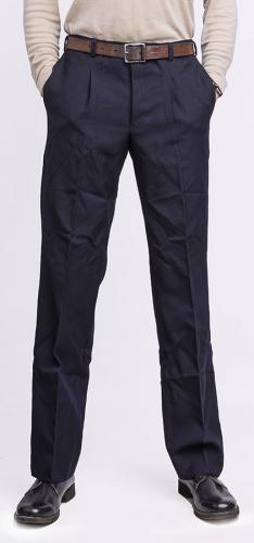 Italialaiset laivaston housut, villagabardiinia, tummansiniset, ylijäämä