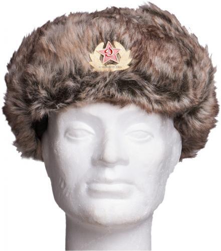 Venäläinen karvahattu neukkukokardilla