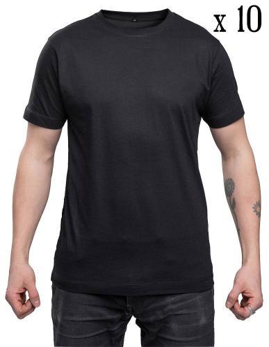 Särmä T-paita, musta, 10-pack