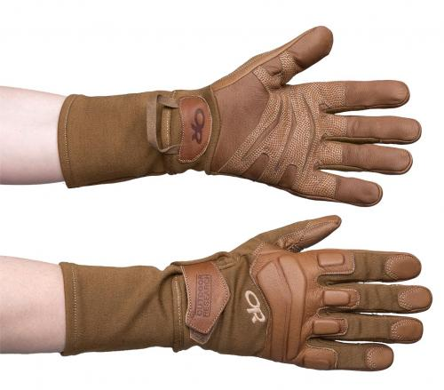 Outdoor Research Firemark Gauntlet Gloves, kojootinruskeat, ylijäämä