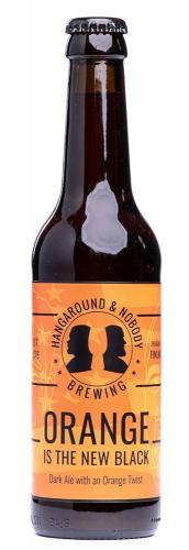 "Hangaround & Nobody Brewing ""Orange Is The New Black"" Dark Ale"