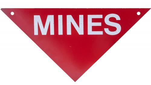 US metallinen miinavaaramerkki, ylijäämä