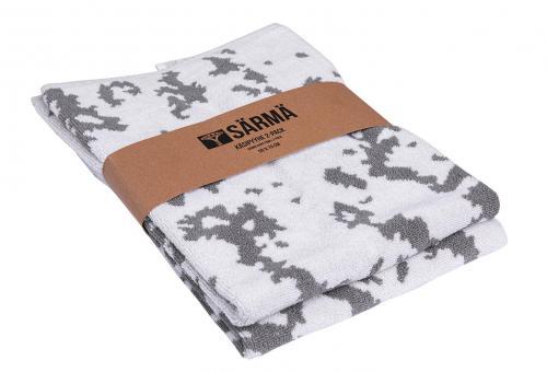 Särmä käsipyyhe 2-pack, M05 lumikuvio