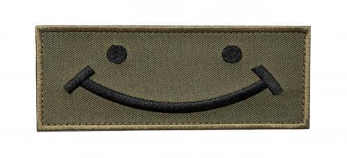 Savotta Happy -kangasmerkki, kenttävärinen, velcro
