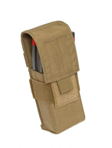 London Bridge Trading M4 Single Mag Pouch, kojootinruskea, ylijäämä